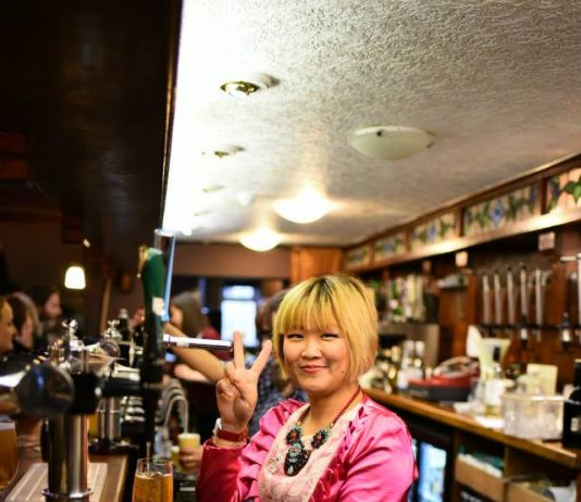 Golden Lion opening - Gig behind the bar