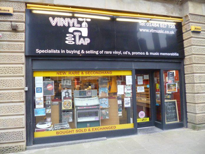 Vinyl Tap Huddersfield Front of shop