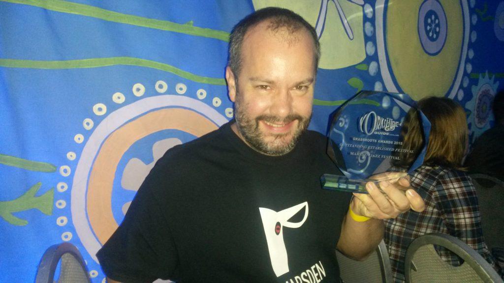 Barney Stevenson with Outstanding Established Festival Award