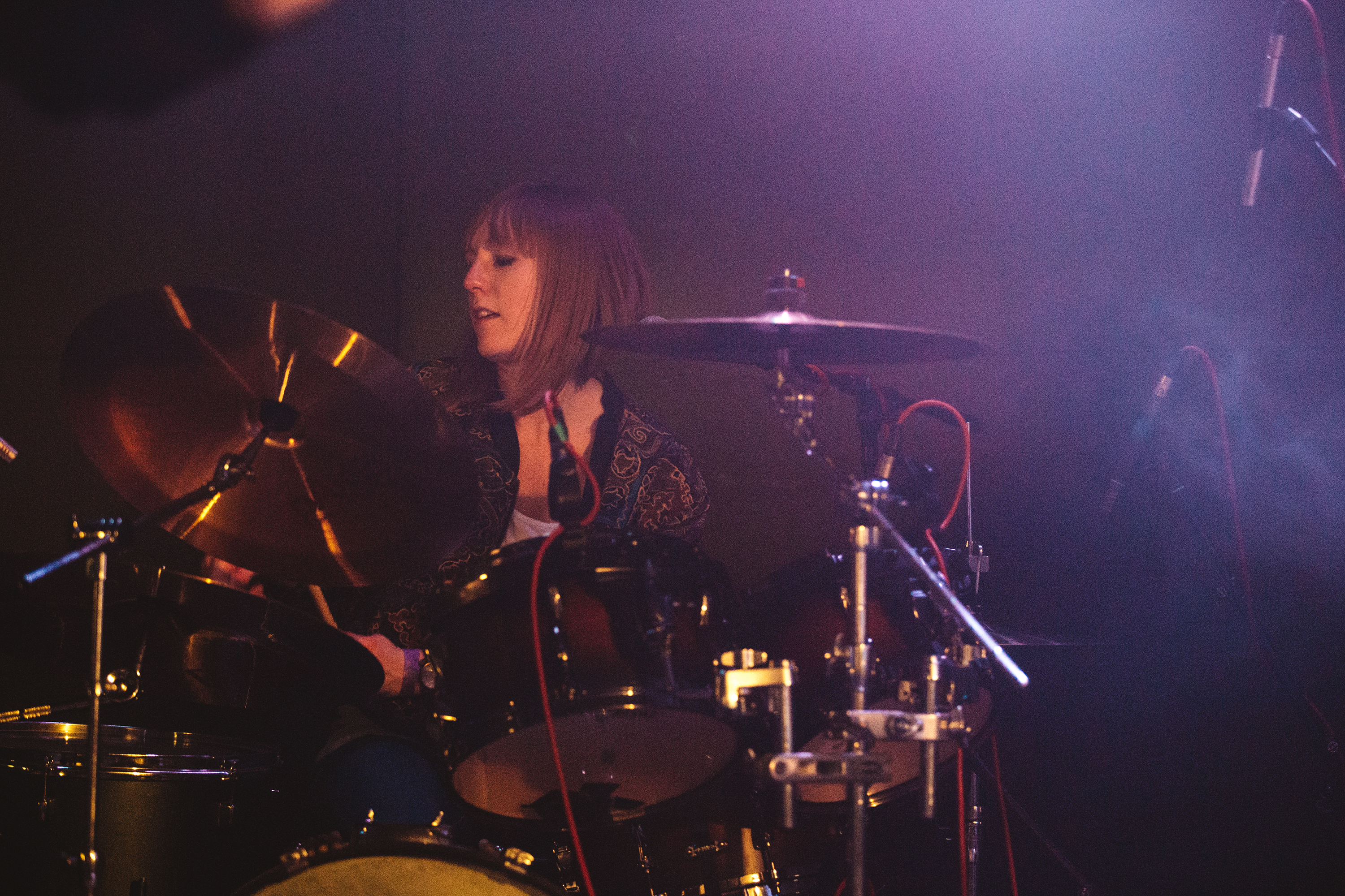 Lauren Greaves on Drums. Photo by Aimee Catt